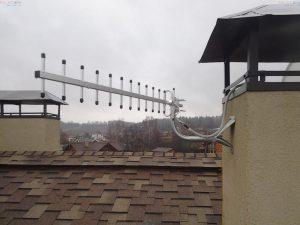 3G антенна на фасаде частного дома